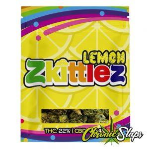 Zkittlez Lemon Mylar Bags